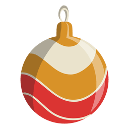 Christmas ball cartoon icon 115