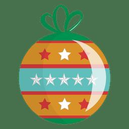 Icono de dibujos animados de bola de Navidad 17
