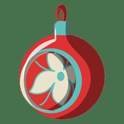 Ícone dos desenhos animados de bola de Natal 196