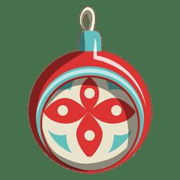 Ícone dos desenhos animados de bola de Natal 211