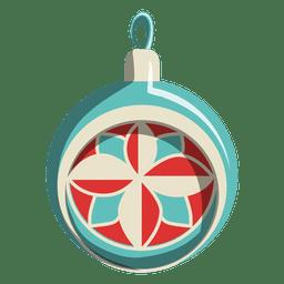 Ícone dos desenhos animados de bola de Natal 213