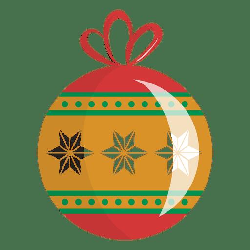 Glatte Schneeflocke-Weihnachtsverzierung Transparent PNG