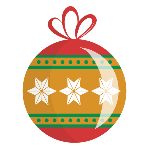 Glossy Snowflake Christmas Ornament Transparent PNG