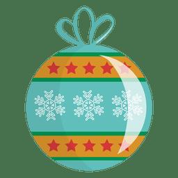 Icono de dibujos animados de bola de Navidad 24