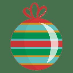 Glatte gestreifte Weihnachtsverzierung