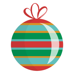 Glossy Striped Christmas Ornament
