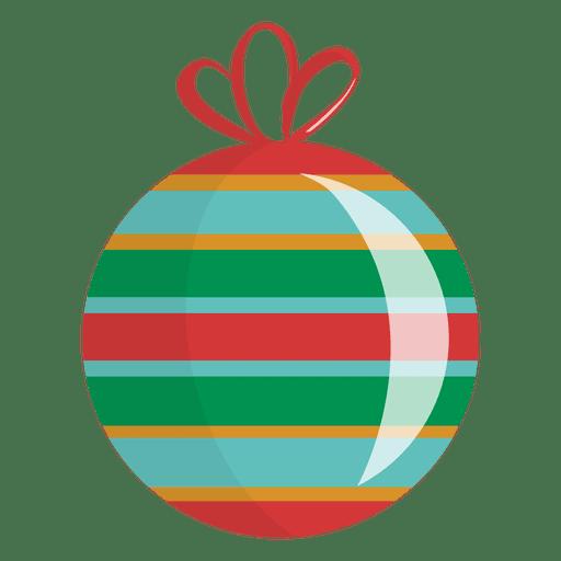 Glossy Striped Christmas Ornament