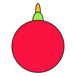 Christmas ball cartoon icon 56