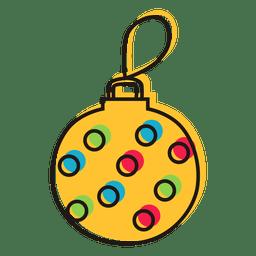 Gekritzel-Weihnachtsverzierung