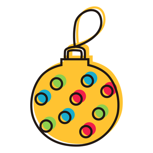 Doodle Christmas Ornament Transparent PNG