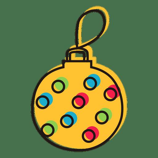 Ornamento de Natal Doodle