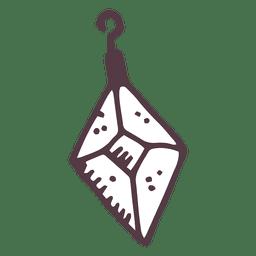 Bola de Navidad diamante forma mano dibujado icono 53