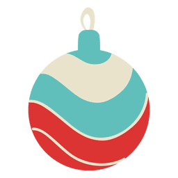 Christmas ball flat icon 100