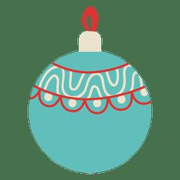 Bola de Navidad plana icono 101