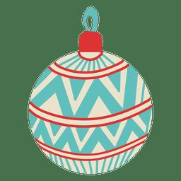 Bola de Navidad plana icono 103