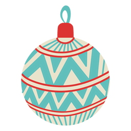 Christmas ball flat icon 103