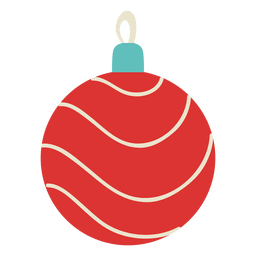 Christmas ball flat icon 119