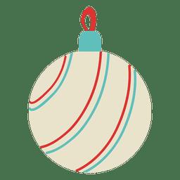 Bola de navidad plana icono 120