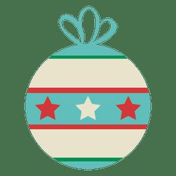 Christmas ball flat icon 13