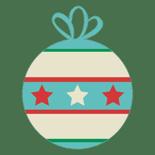 Adorno de Navidad estrellado Transparent PNG
