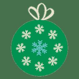Bola de Navidad icono plana 14