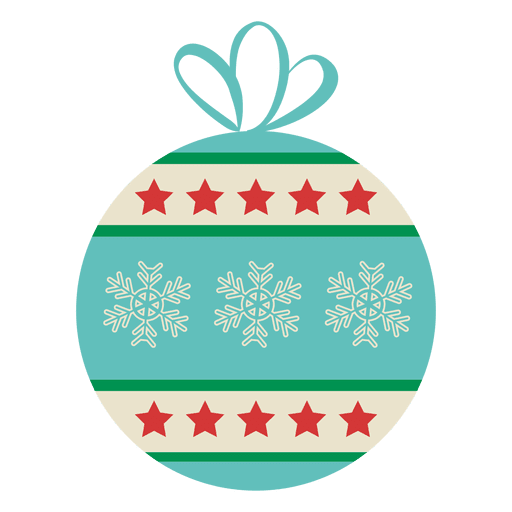Christmas ball flat icon transparent png svg vector