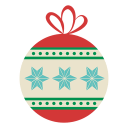 Bola de Navidad icono plana 21