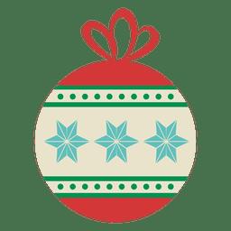 Christmas ball flat icon 21