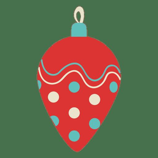 Christmas ball flat transparent png svg vector