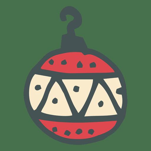 Icono 17 dibujo animado hecho a mano bola de navidad for Dibujo bola navidad