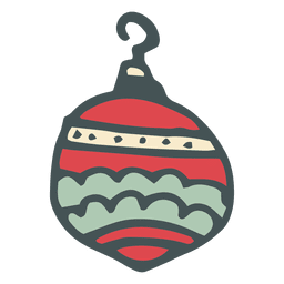 Christmas ball hand drawn cartoon icon 32