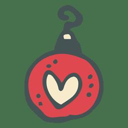 Christmas ball hand drawn cartoon icon 34