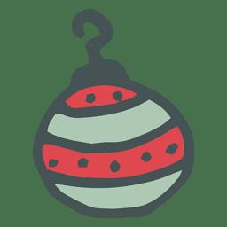 Mão de bola de Natal desenhado ícone dos desenhos animados 4