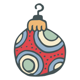 Christmas ball hand drawn cartoon icon 45