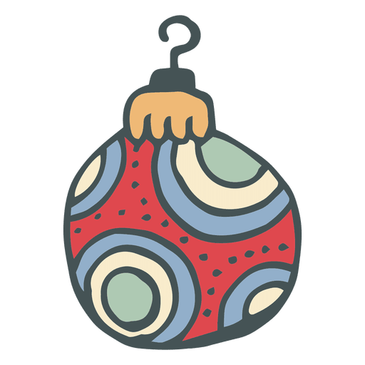 Christmas ball hand drawn cartoon icon transparent