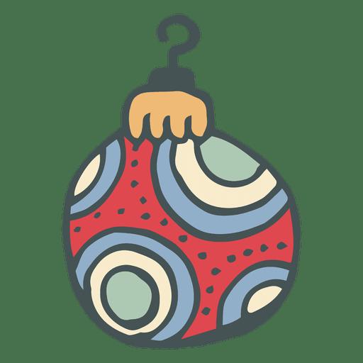 Enfeite de natal desenhado ? m?o