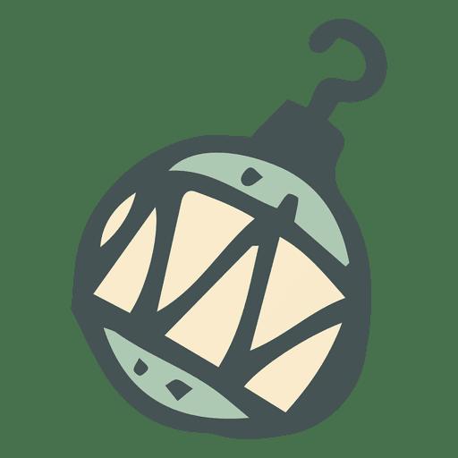 Bola de Navidad dibujada a mano Transparent PNG