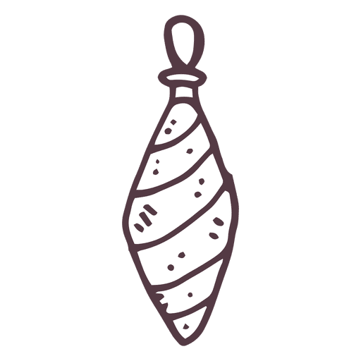 Striped Hand Drawn Christmas Drop Transparent PNG