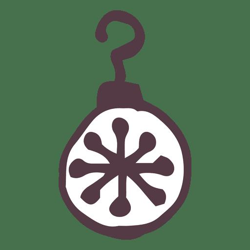 Christmas Doodle Ornament Transparent PNG