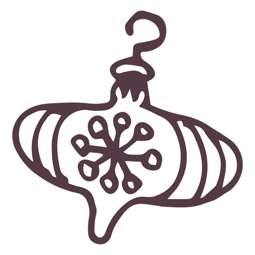 Christmas Doodle Ornament Design Transparent PNG