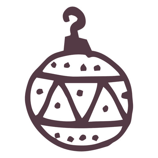 Christmas Ball Doodle Transparent PNG