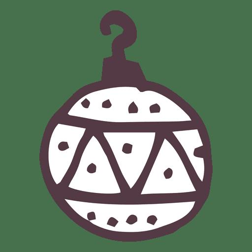Doodle de bola de Navidad