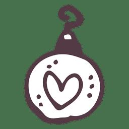 Bola de navidad garabato
