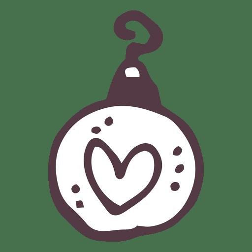 Doodle bola de Natal Transparent PNG