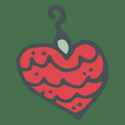 Christmas ball heart shape hand drawn cartoon icon 15