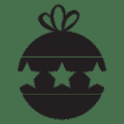 Christmas ball icon 123