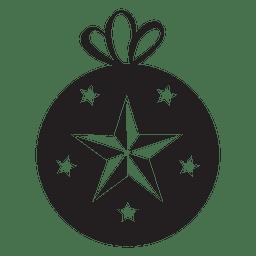 Icono de bola de navidad 125