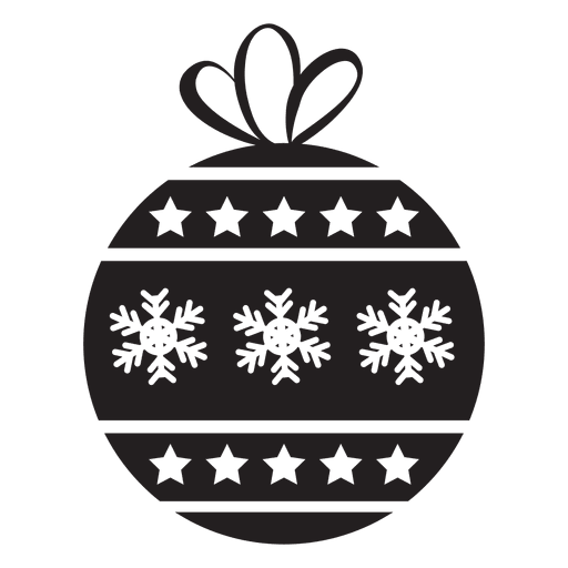 Christmas ball icon transparent png svg vector