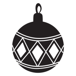 Christmas ball pattern silhouette 144