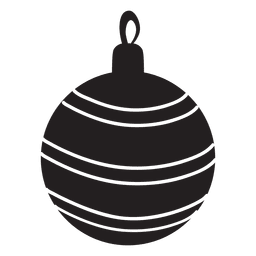 Christmas ball pattern silhouette 145